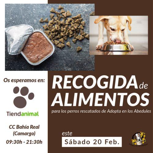 Recogida de Alimentos en Tiendanimal Santander